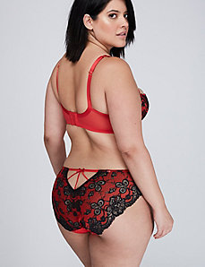 Lace-Back Hipster Panty