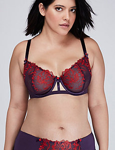 Rose Embroidered Unlined Full Coverage Bra