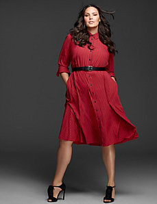 Fit & Flare Shirtdress by GLAMOUR X LANE BRYANT