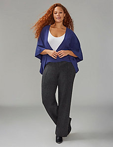 Knit Drama Top with Wrap Detail