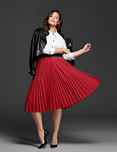 Pleated Skirt by GLAMOUR X LANE BRYANT