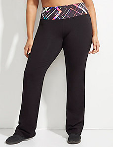 Signature Stretch Yoga Pant with Printed Waistband