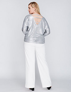 3/4-Sleeve Shine Top