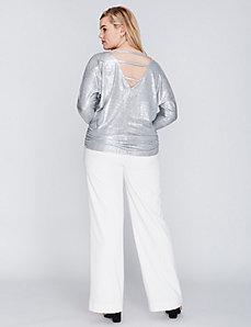 3/4-Sleeve Shine Top