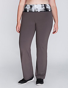Wicking Active Yoga Pant with Printed Waistband