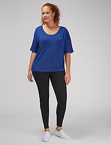 Tee with Lace-Up Back