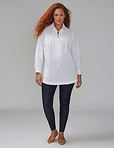 Lace-Up Tunic Shirt