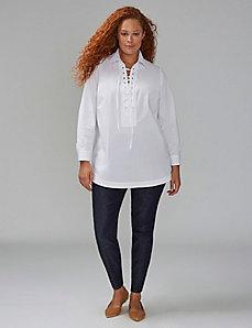 Lace-Up Tunic Shirt
