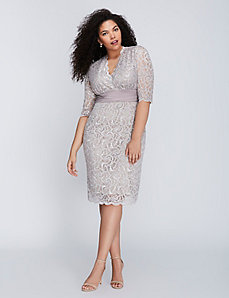 Lustrous Lace Dress by Kiyonna