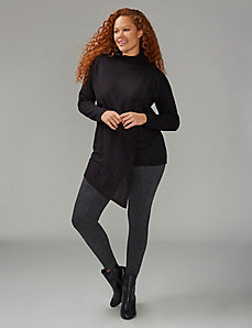 Tunic Sweater with Wrap Look