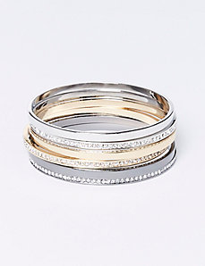 6-Row Bangle Set with CZ