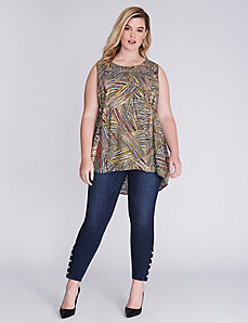 Sleeveless Pintuck Blouse by Melissa McCarthy Seven7