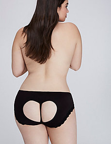 Open Heart-Back Hipster Panty