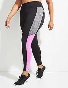 Wicking Colorblock Active Legging with Mesh