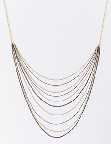 Long Multi-Layer Chain Necklace