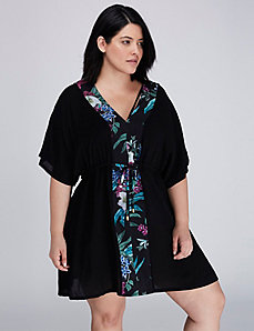 Woven V-Neck Cover-Up