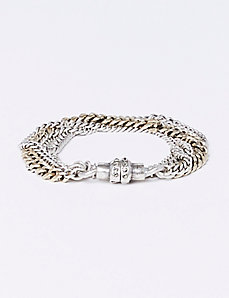 Multi-Chain Bracelet with Magnetic Closure