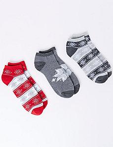 Southwestern Jacquard Sport Socks 3-Pack