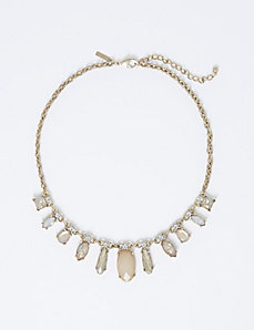 Short Blush-Toned Statement Necklace