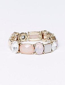 Tonal Stone Stretch Bracelet