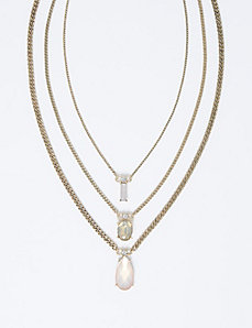 Blush-Toned 3-Row Necklace