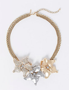 Short Flower Statement Necklace