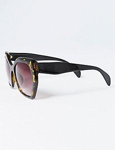 Oversized Geo Tortoiseshell Sunglasses