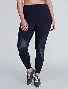 Wicking Active Legging with Shimmer Insets