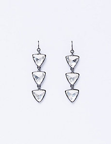 Triple Triangle Drop Earrings