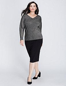 Metallic Double V Sweater