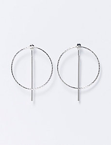 Circle & Stick Front-to-Back Earrings