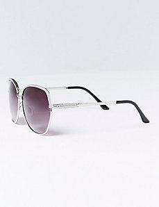 Glittery Oversized Sunglasses