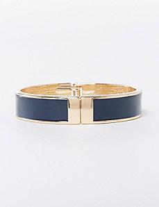 Navy Enamel Hinge Bracelet
