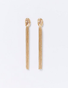 Long Fringe Knot Earrings