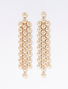 Goldtone Circle Waterfall Earrings