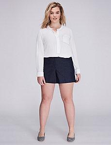 The Modernist Lena Faux Denim Suit Short