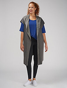 Reversible Sleeveless Duster
