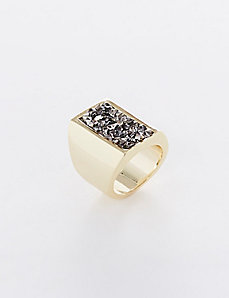 Rock Glitter Statement Ring