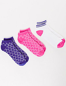 Textured Brights Sport Socks 3-Pack
