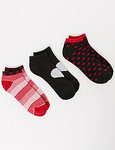 Valentine Sport Socks 3-Pack