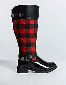 Quilted Rain Boot