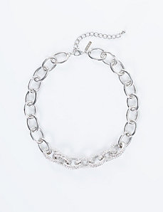 Short Textured Link Chain Necklace