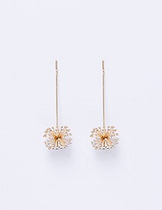 Stick Earrings with Cluster Starburst
