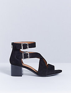 Double-Buckle Block Heel Sandal