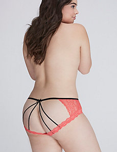 Caged-Back Panty with Lace
