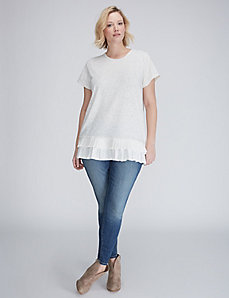 Pleated-Hem Tee