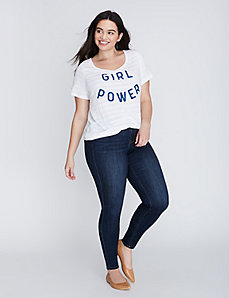Girl Power Shadow Stripe Graphic Tee