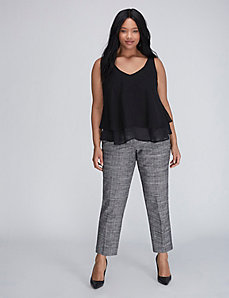 Sophie Crosshatch Ankle Pant