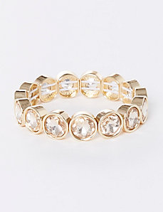 Faceted Stone Stretch Bracelet