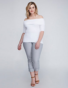 3/4 Sleeve Off-the-Shoulder Sweater